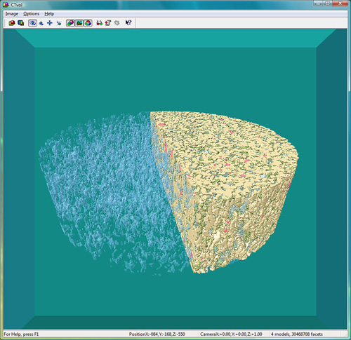 3D microstructure rendering using spiral scan micro-ct