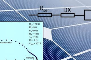 Impedance spectroscopy of solar cells