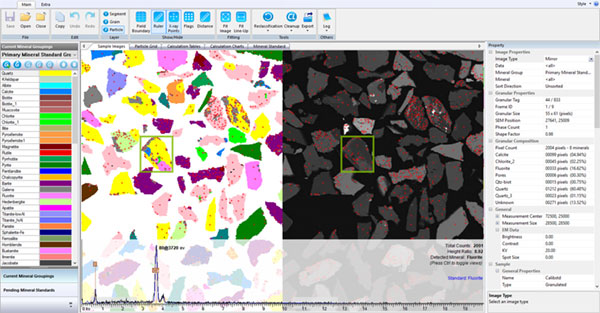 Bruker AMICS software for automated mineral analysis