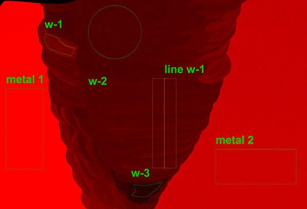 Micro-XRF analysis of steel