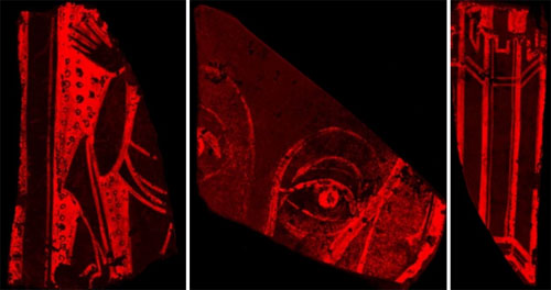Historic glass analysed with micro-XRF