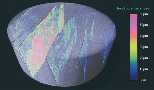 Nano-CT image of shale