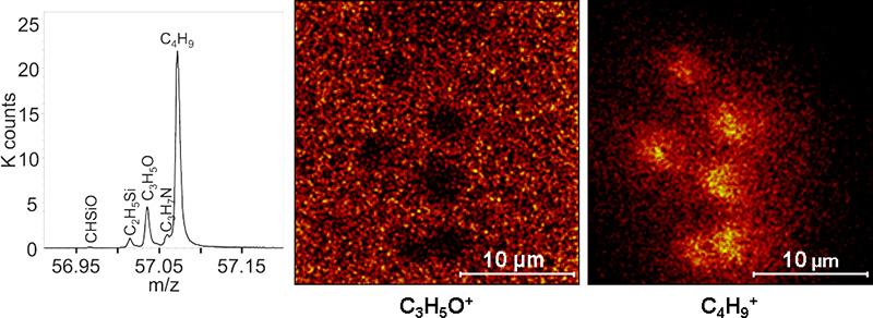 HR2 imaging - PHI NanoTOF TOF-SIMS