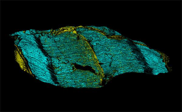 Raman image of quartz