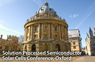 Solution Processed Semicondiuctor Solar Cells Conference, Oxford