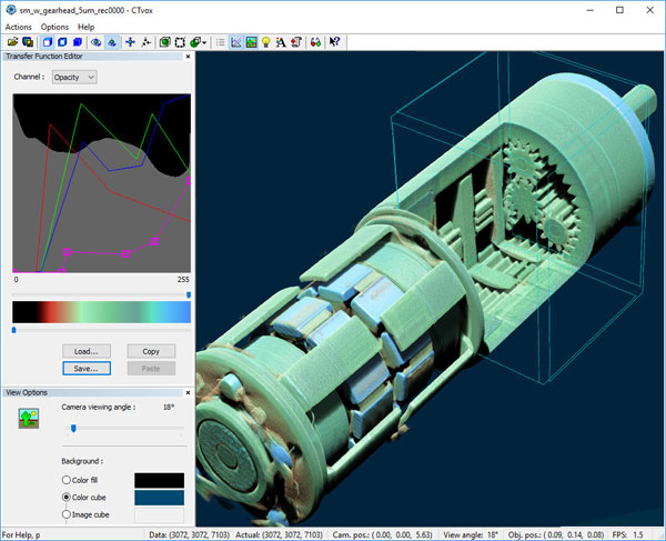 Tomography Visualisation Software