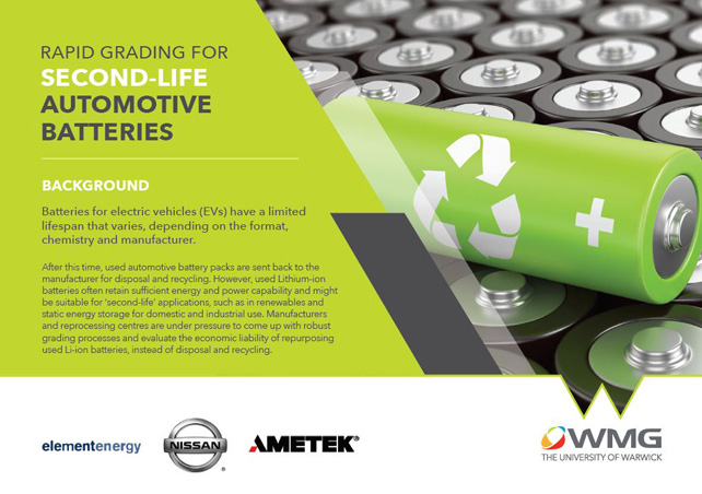 Grading Used Electric Vehicle Batteries