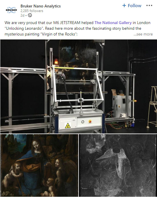 Bruker Nano Linked In Post about the National Gallery