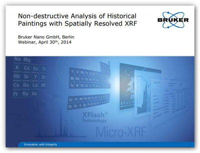 Bruker Webinar: Non-Destructive Analysis of Historical Paintings with Spatially Resolved XRF
