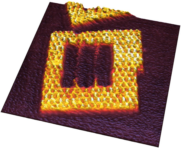 AFM image of DNA origami frames