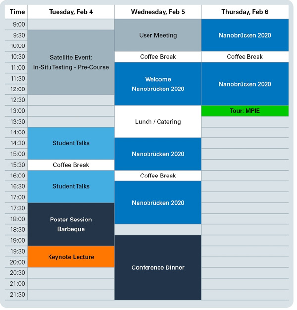 Nanobrücken Conference Programme
