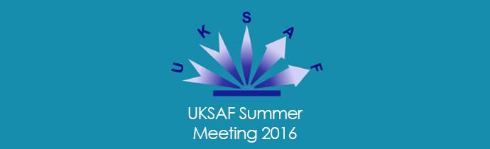 UKSAF Summer Meeting 2016, Dublin